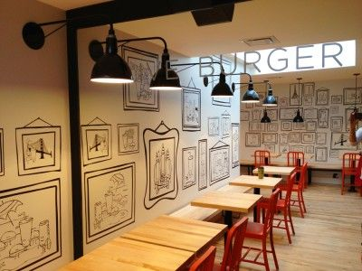 Clive Burger, Calgary. Restaurant Interior Design.