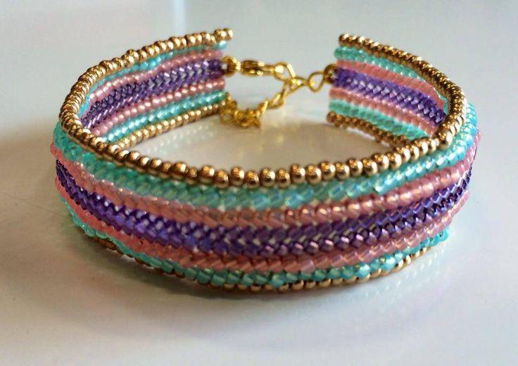Flat herringbone cuff bracelet...a real beauty!  http://www.thebead.co.uk/acatalog/Jewellery_Making_Classes_Glasgow.html