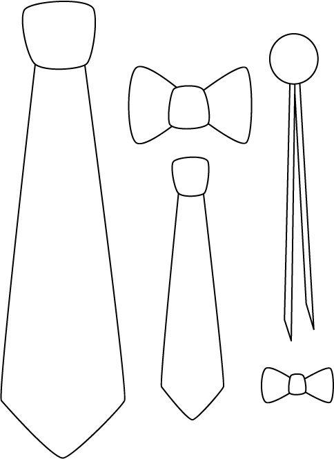 Corbatas de fomi para fiestas - Imagui