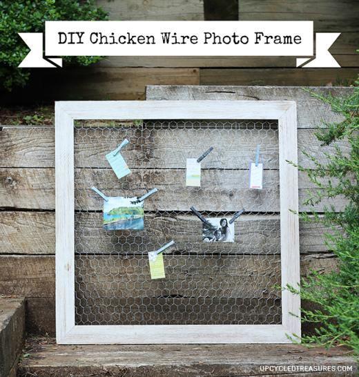 DIY Chicken Wire Photo Frame DIY Home Decor Crafts