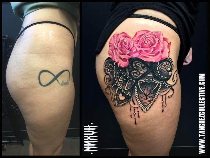 Coverup Rose and Lace Tattoo! . Instagram: @Tanchezcollective www.tanchezcollective.com . #tanchez #tanchezcollective #girlswithtattoos #tattoo #tattooartist #realism #blackandgrey #colortattoo #inked #inkedmagazine #nova #virginia #eastcoast #coveruptattoo #raffle #manassas #fairfax #coverup #703 #girltattoo #flowers #rose #lace #phillytattooconvention #tattooconvention #eastcoasttattoo