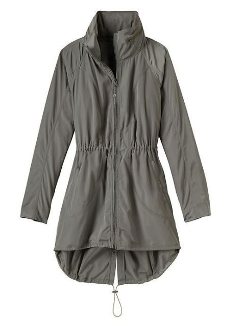 15 Cute Raincoats to Keep You Dry This Spring-Best Raincoats for Women Spring-SPORTY CHIC Throw on before a morning run, or wear it out and about for a sporty look. Either way, you'll look like you just came from a kickass workout, and that's always on trend. Drippity Jacket, $128; Athleta. Click through our selection of sporty raincoats at redbookmag.com.