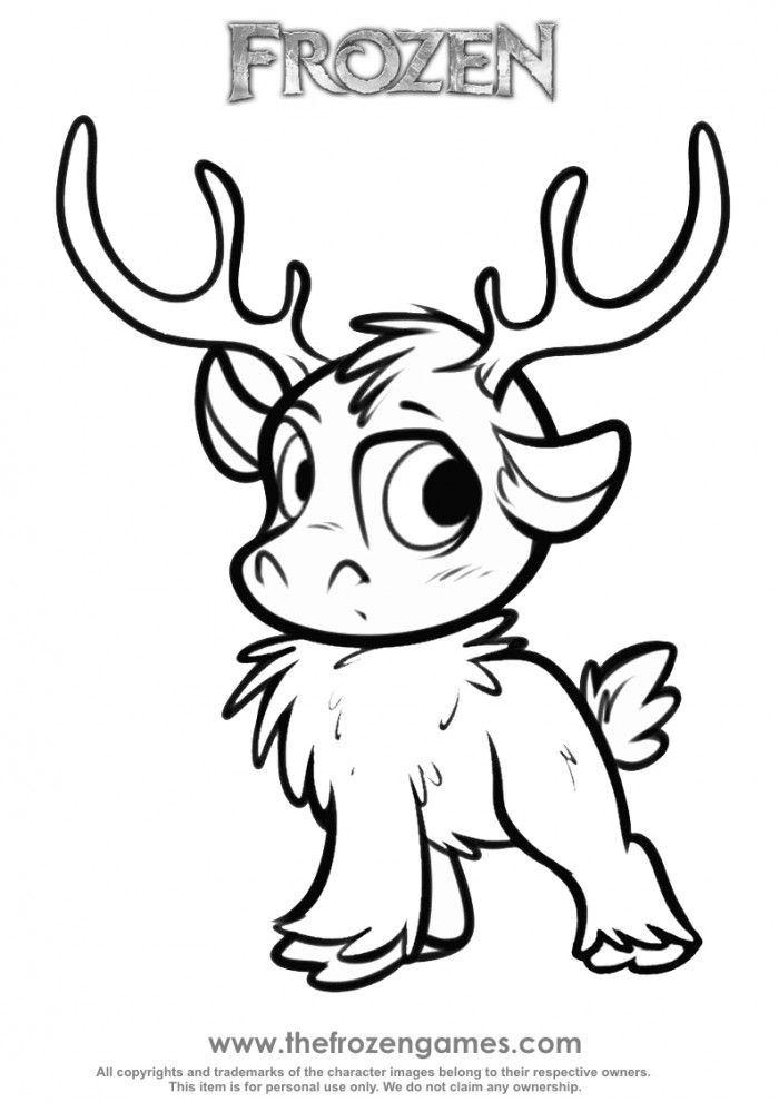 frozen coloring pages sven 06