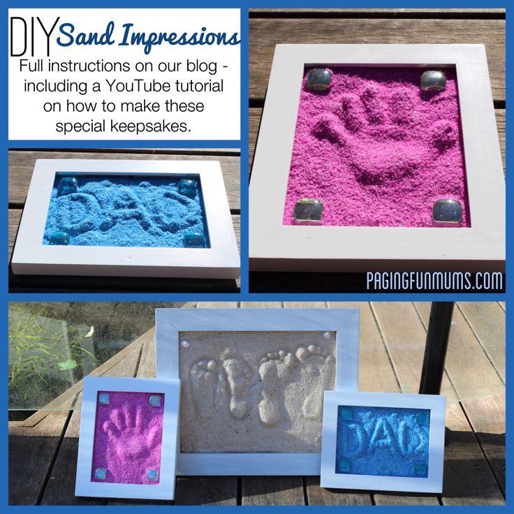 DIY Sand Impressions Keepsake from Paging Fun Mums