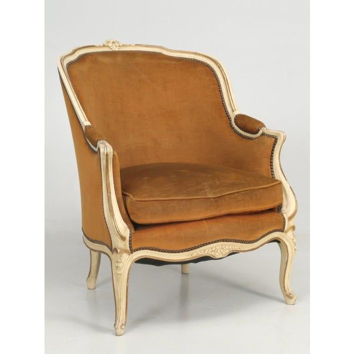 French Louis Xv Bergere Chair In Original Paint Bergere Chair