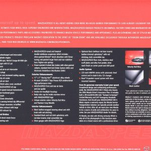 Mazdaspeed Miata Brochure 2004