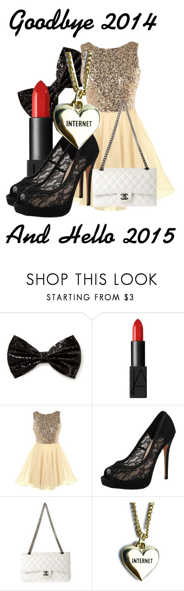 """Goodbye 2014"" by princessmikyrah ❤ liked on Polyvore featuring Forever 21, NARS Cosmetics, Vince Camuto, Chanel and Lazy Oaf"