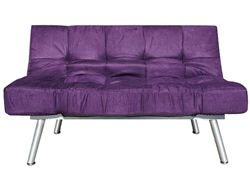 The College Cozy Sofa Mini-Futon Purple Dorm Furniture Items Seating Cheap Futons Furniture College Dorm