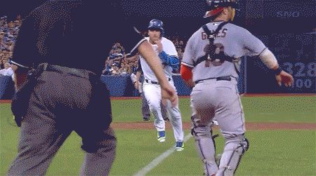Incredible!!! GIFS: Josh Donaldson Scores On a Sac Fly to Shallow Centre Field | The Blue Jay Hunter - A Toronto Blue Jays Blog