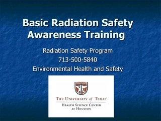 basic-radiation-safety-awareness-training by brucelee55 via Slideshare