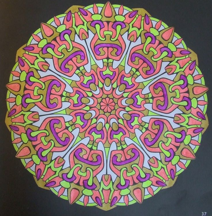 Kaleidoscopes 37 done with gelpens