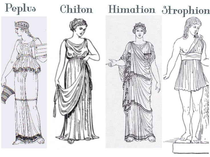 Types of Greek Dresses: Outfit with a Greek Goddess dress *The Romans adapted the Greek fashion as their own and added some personal touches to them*
