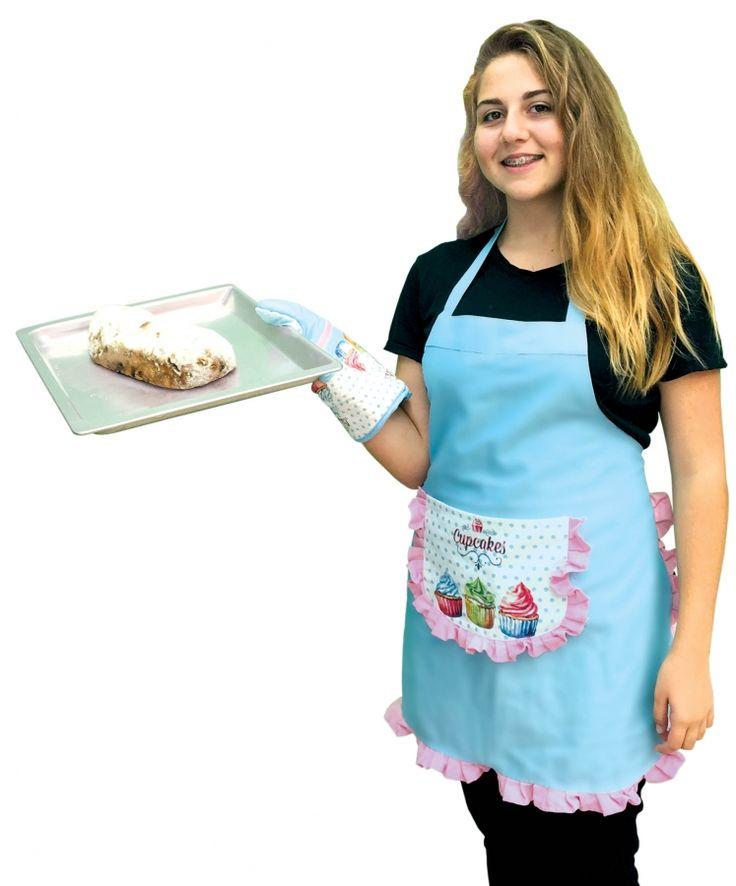 upcake zástěra pro všechny nadšené pekařky ze 100% bavlny s velkou kapsou
