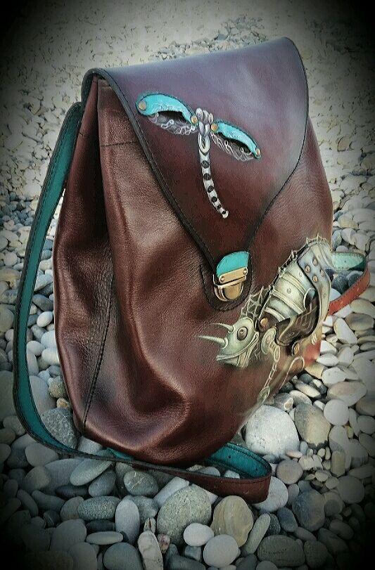 Бронь, Кожаный рюкзак