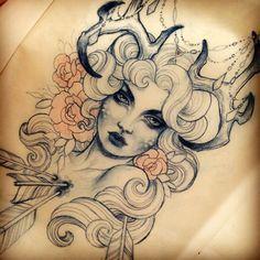 Done by Teniele Sadd. http://instagram.com/teniele in love