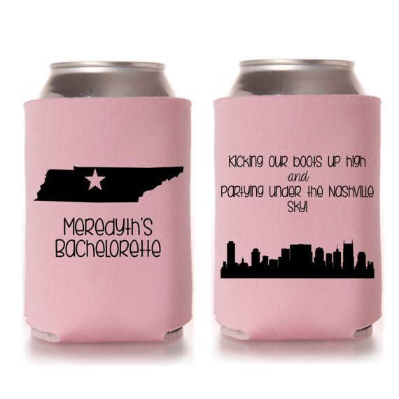 Nashville Bachelorette Party Koozies by yourethatgirldesigns on etsy