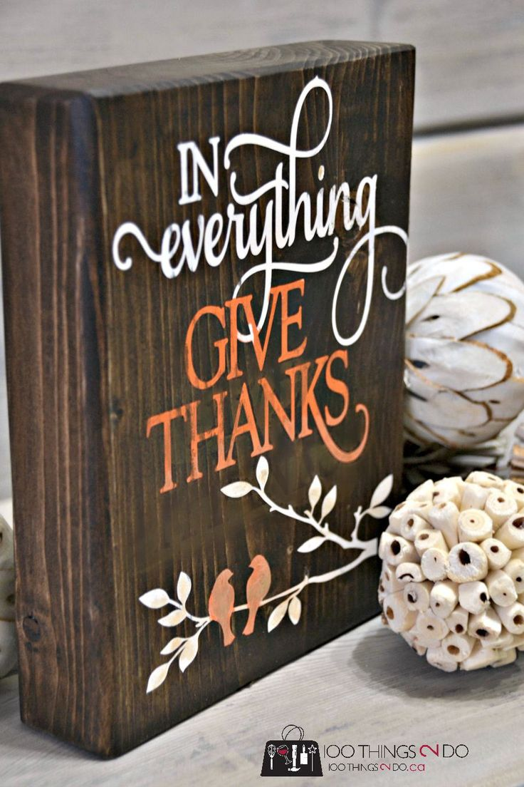DIY thanksgiving blocks