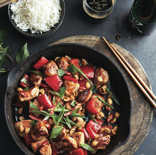 This delicious sauce works just as well with pork or firm tofu. Have all ingredients prepped and measured before cooking this chicken stir-fry.