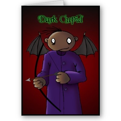 Dark Cupid - A Gothic Valentine  Well well well... Looks like Dark Derek is about to invoke some love as he goes about his dark day. He's no ordinary cupid though and I wouldn't trust him with that bow and arrow!  #valentine #cupid #love #heart #holiday #holidays #feeling #valentinesday #darkderek #gothic #macabre #dark #black #sinister #horror #halloween #spooky #kooky #weird #scary #frightening #humor