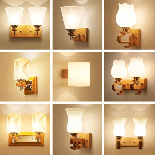 Wood Wall Lamp Led Wall Mounted Bedside Reading Lamps 110 220v Flexible Wall Lightrustic Wall Sconces E27 Luminarias Review Wood Wall Lamps Wall Lamp Lamp