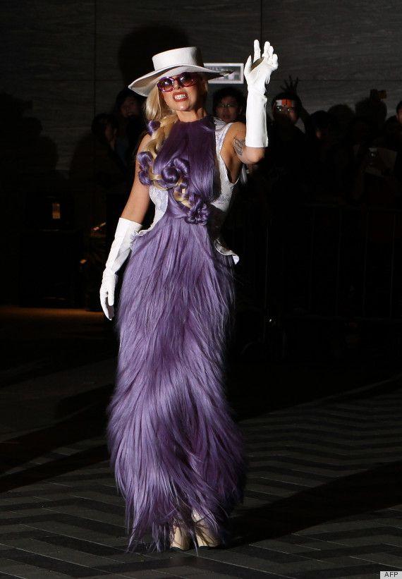 Lady Gaga wears a wig as a dress!: Hong Kong, Celebrity Style, Purple Hair, Lady Gaga, Fashion Fail, Fashion Blog, Hair Dresses, The Dresses