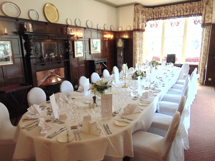 A small intimate wedding for up to 30 people in the traditional Oak Room