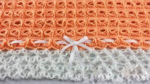 How beautiful   this blanket   for your baby  made in crochet pattern   I loved the colors and   the size ,   let's   do   girls ,   b...