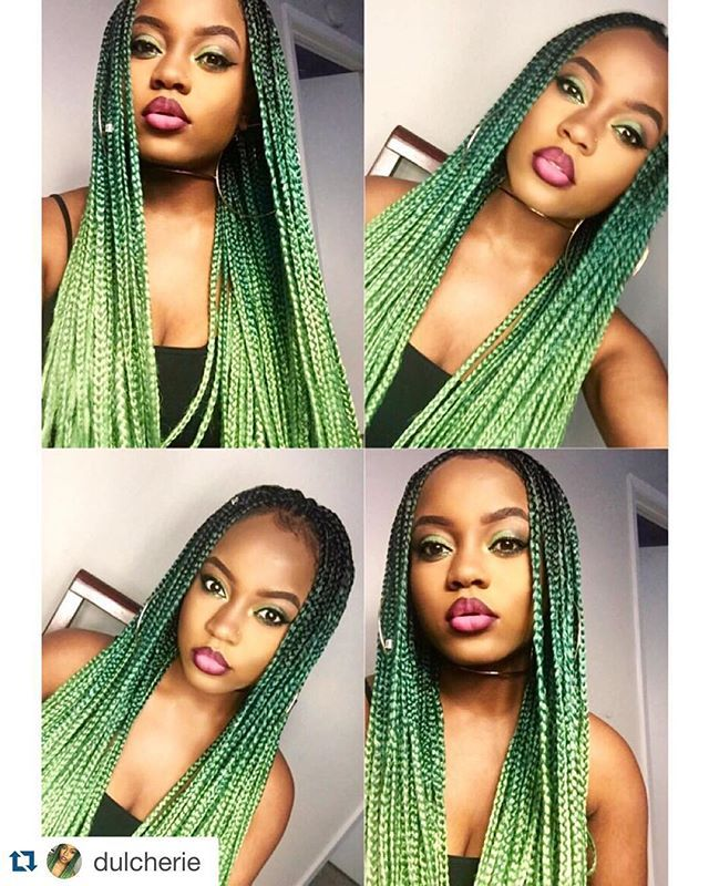 "#Repost from @dulcherie fave color Janet Collection 3S Havana Box Braid 24"" @janetcollection Hair provided by @beauty_depot www.shopbeautydepot.com"