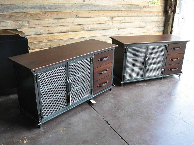 Ellis Console With Drawers. Vintage Industrial FurnitureModern ...
