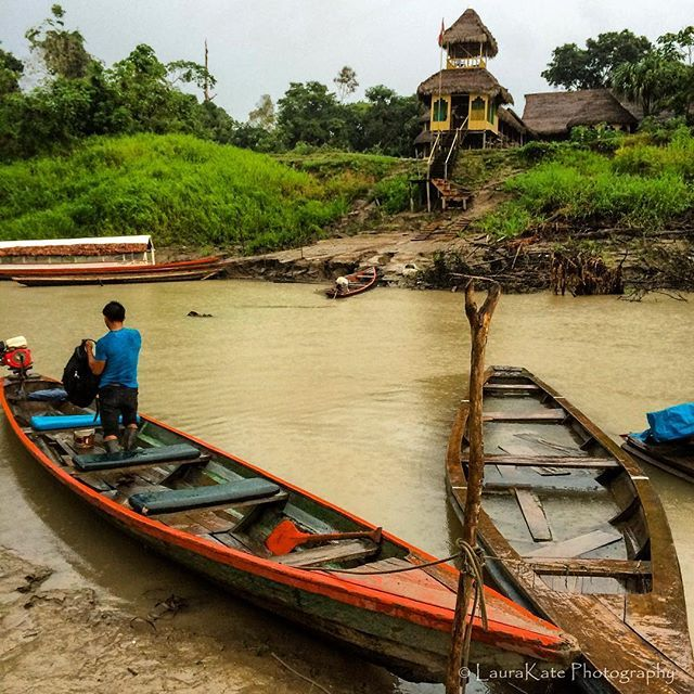 Our transport on the Peruvian Amazon where we explored the jungle on water and foot. #exploreperu #vistatravels #peruvianamazon