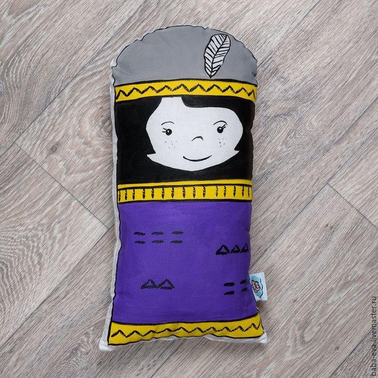 Купить Подушка Ребекка - фиолетовая - для девочки, для интерьера детской, для интерьера, детская комната, товары для детей