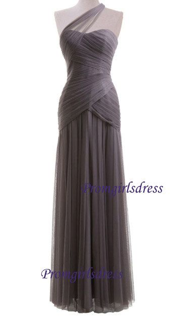 Bridesmaid Dress Long Bridesmaid Dress Grey by Promgirlsdress, $109.00 kind of extravagant but I like!!