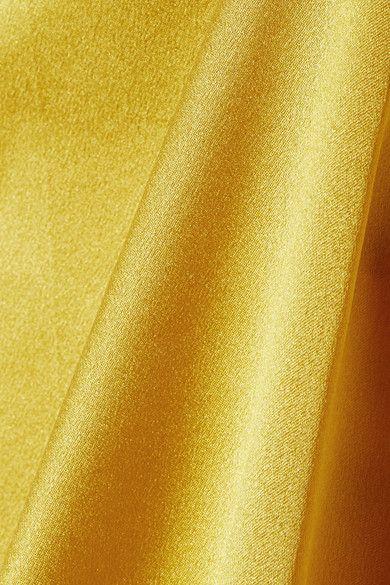Gucci - Mesh-trimmed Silk-satin Camisole - Gold - IT44
