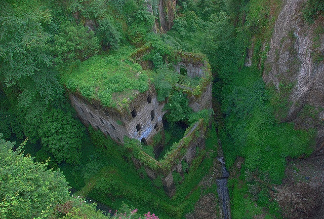Abandoned castle in Sorrento, Italy