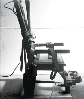 """Old Sparky"" electric chair at Sing-Sing Prison, Ossining, NY--first used in 1891"