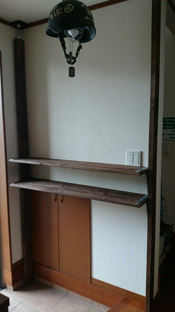 ゴチャつく玄関回りを見せる収納でスッキリと♪|LIMIA (リミア) 棚を組みます。