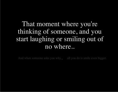 That awkward moment when that person appears out of nowhere and asks you what your laughing about.