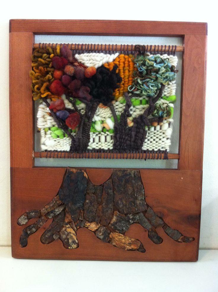Trees tapestry by Viviana Valiente Tapiz de los arbolitos