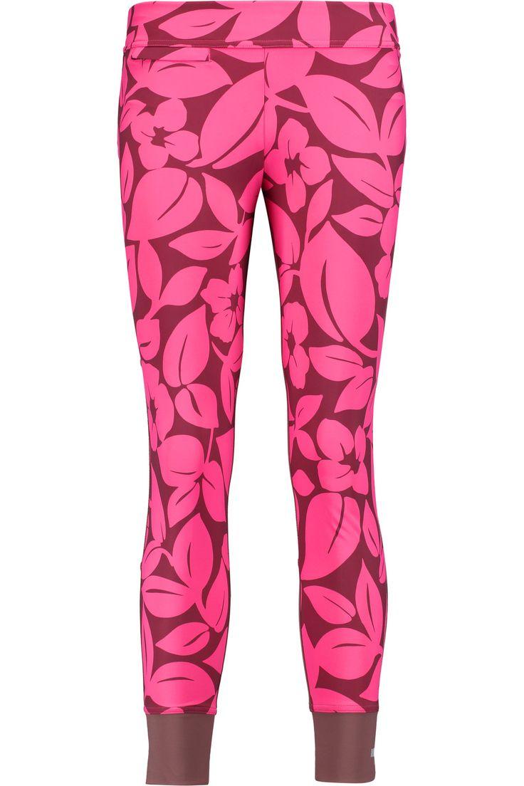 ADIDAS BY STELLA MCCARTNEY Studio Printed Stretch-Jersey And Mesh Leggings. #adidasbystellamccartney #cloth #leggings