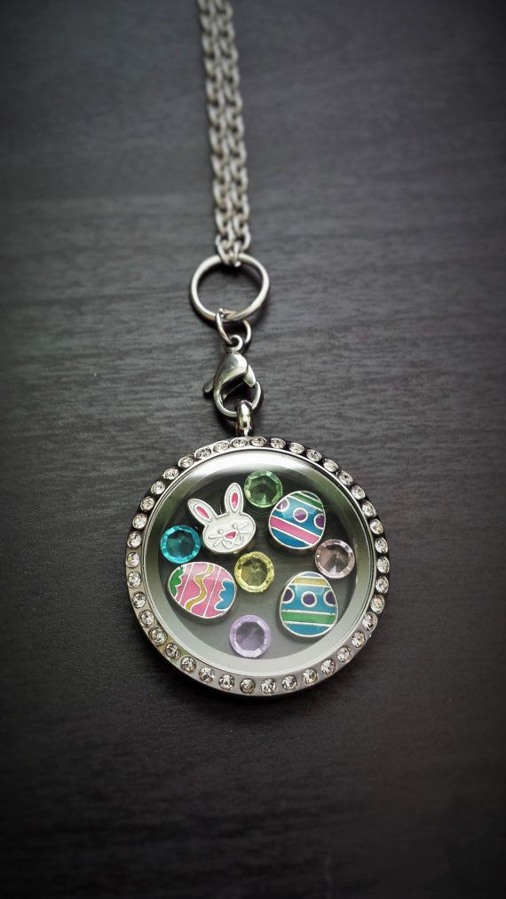 Easter-Themed Floating Locket Necklace-Includes by PrettyPalazzo