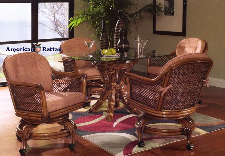 23 Best Indoor Wicker And Rattan Dining Sets Images On
