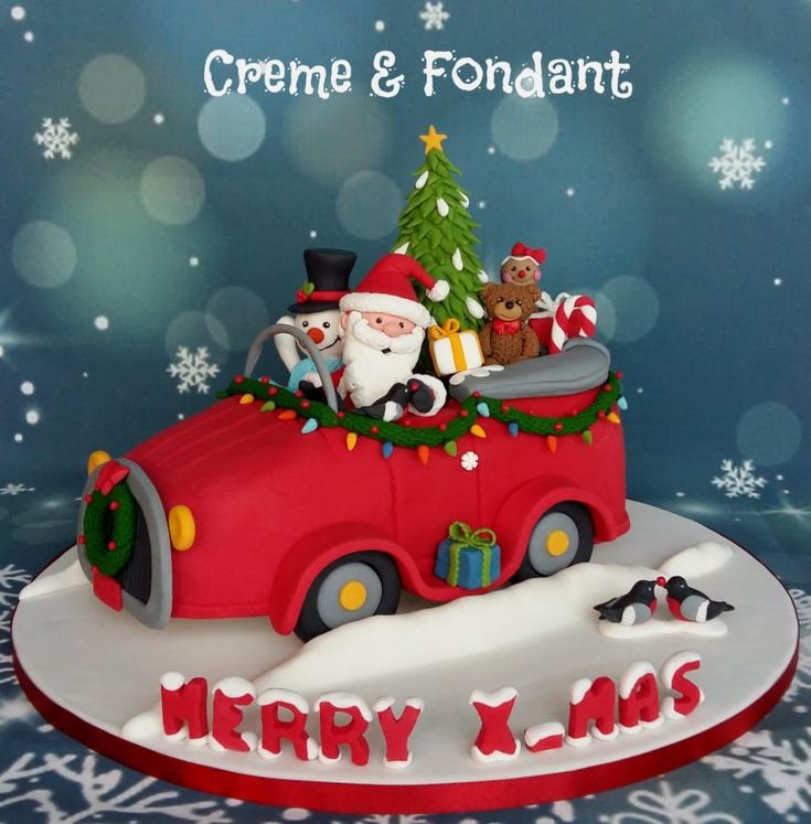 Merry Christmas cake by Creme & Fondant