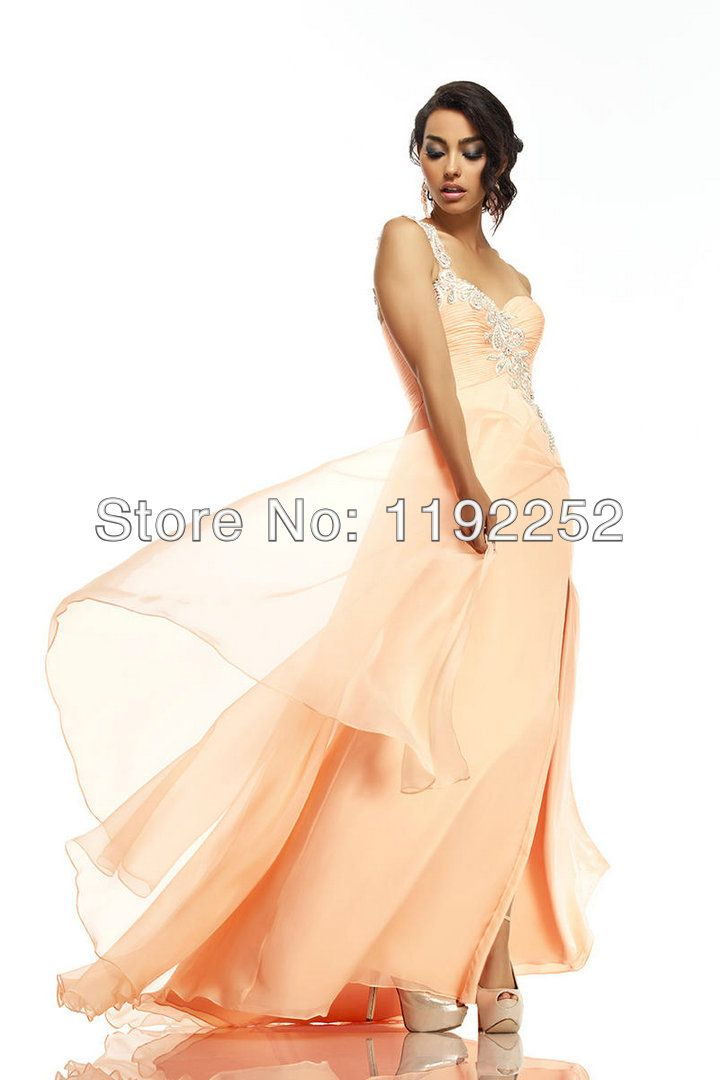 New 2014 custom made sexy yellow chiffon evening dress with a-line plus size for brides/wedding/party/prom/homecoming $99.00