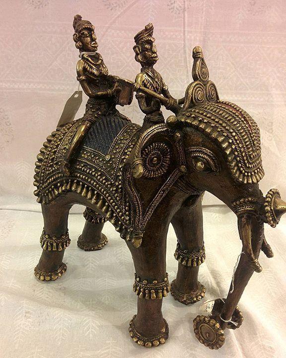 Dokra Art Elephant Rider. by avantebombay #Gateway_Of_India #Mumbai…