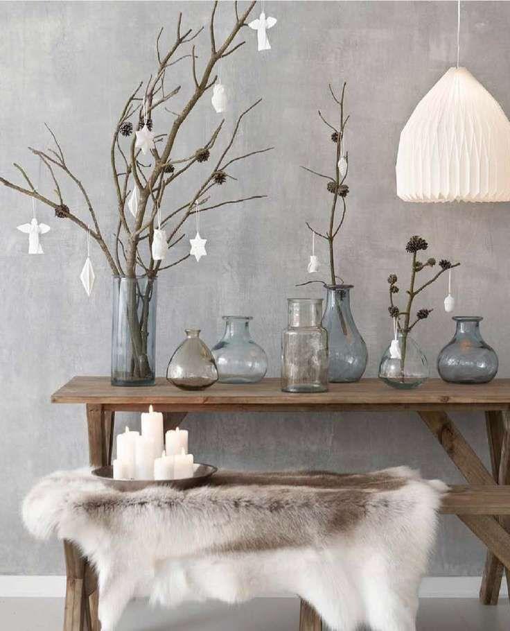 Kerstdecoratie glazen vazen
