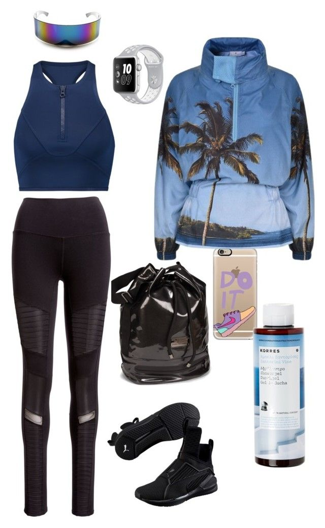 """Exercise in style!"" by lawastyle on Polyvore featuring adidas, Alo Yoga, Puma, Casetify and Korres"