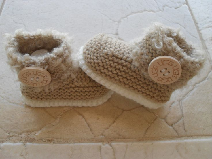 Knitted Baby booties boots 12.00 Euros All Sizes For Sale at My Etsy Shop MarilynsCreation.  Knitting Pattern also Availble