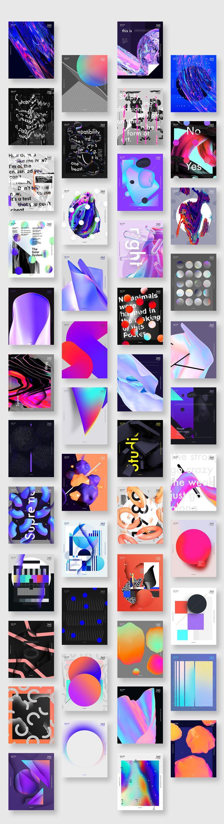 Graphic Design: Baugasm 365 Posters