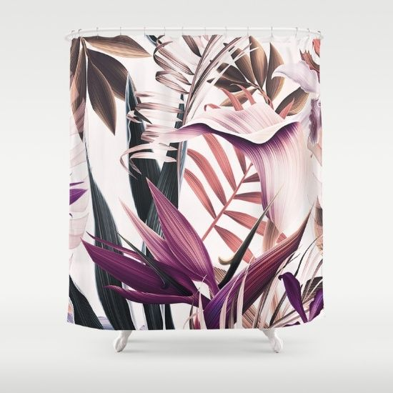 Customize your bathroom decor with unique shower curtains designed by artists around the world. Made from 100% polyester our designer shower curtains are printed in the USA and feature a 12 button-hole top for simple hanging. The easy care material allows for machine wash and dry maintenance. Curtain rod, shower curtain liner and hooks not included. Dimensions are 71in. by 74in.