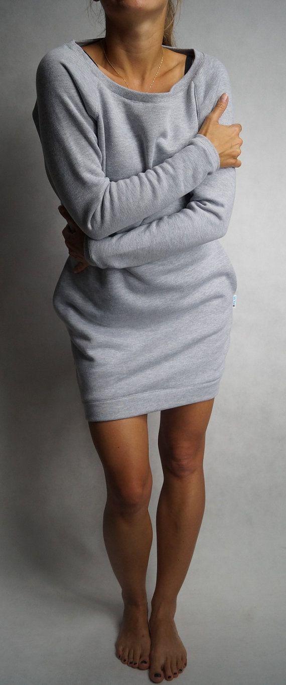 Sweatshirt dress long sleeves